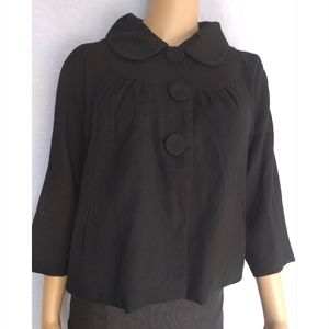 MOSSIMO WOMENS BLACK CROPPED JACKET SIZE (M)